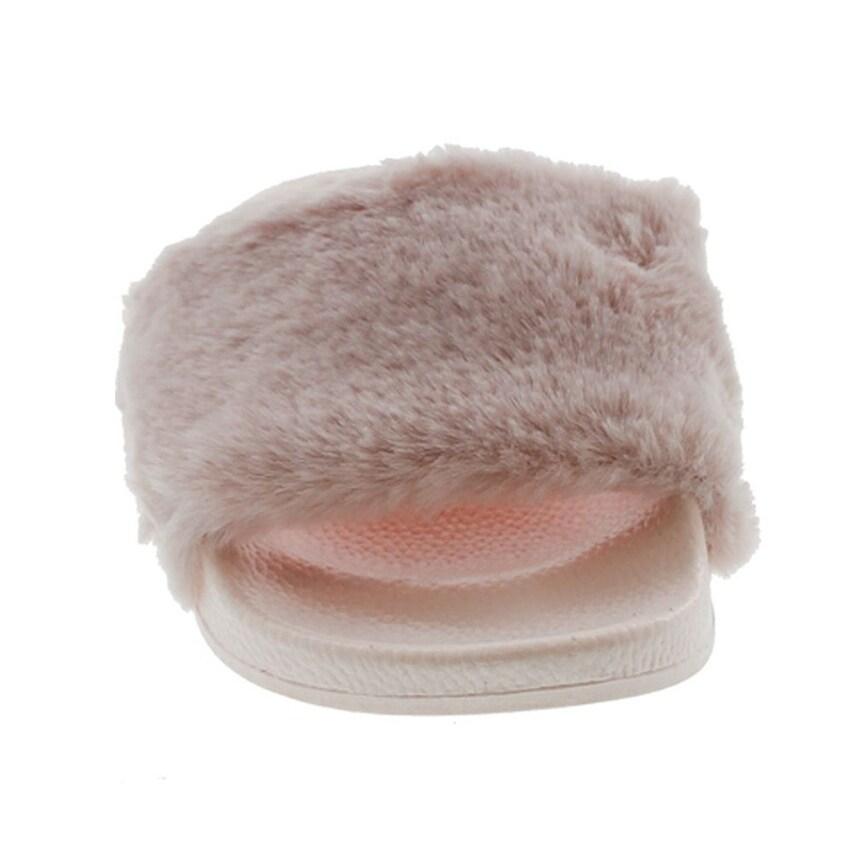 254bdf86dff Shop Top Moda Pillow-1 Women s Faux Marabou Fur Slide Flip Flop Sandal -  Free Shipping On Orders Over  45 - Overstock - 20908576