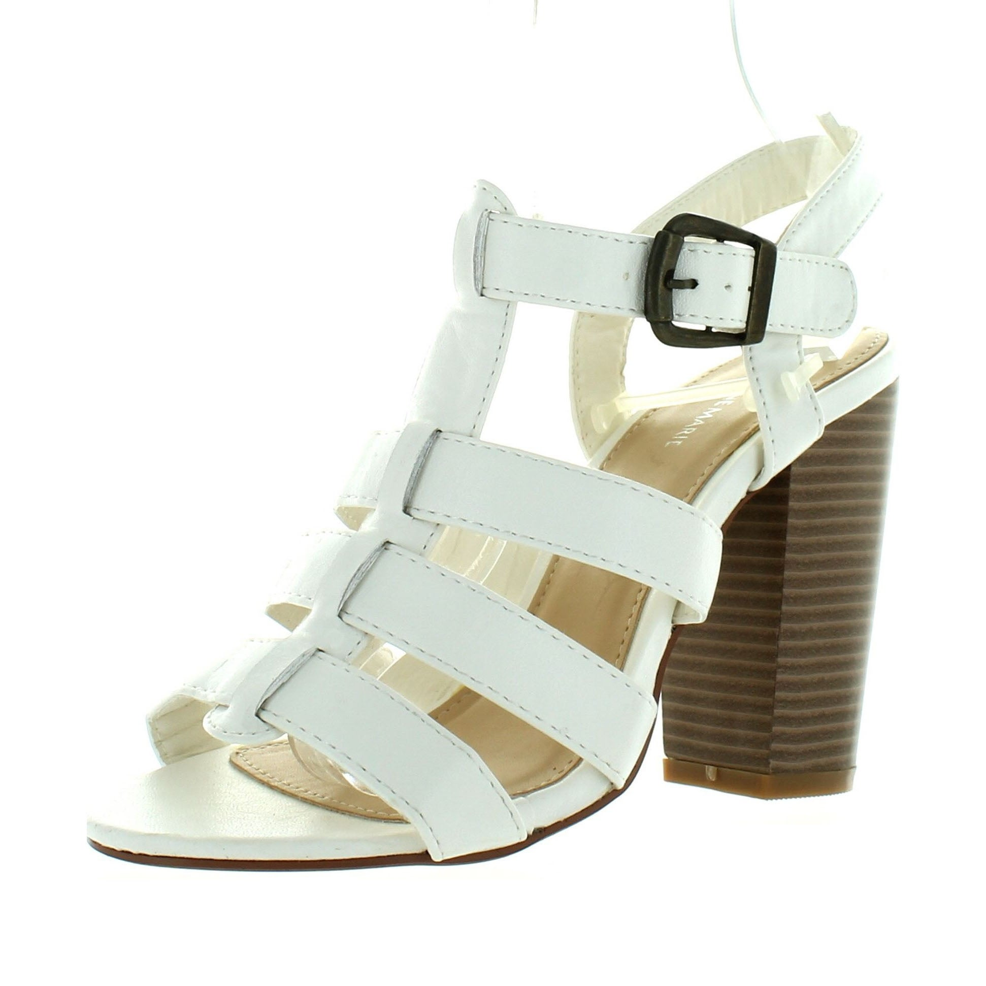 3434cd968 Shop Anne Marie Savana-1 Women Ankle Strappy Block Chunky High Heel Sandal  - Free Shipping On Orders Over $45 - Overstock - 14384481