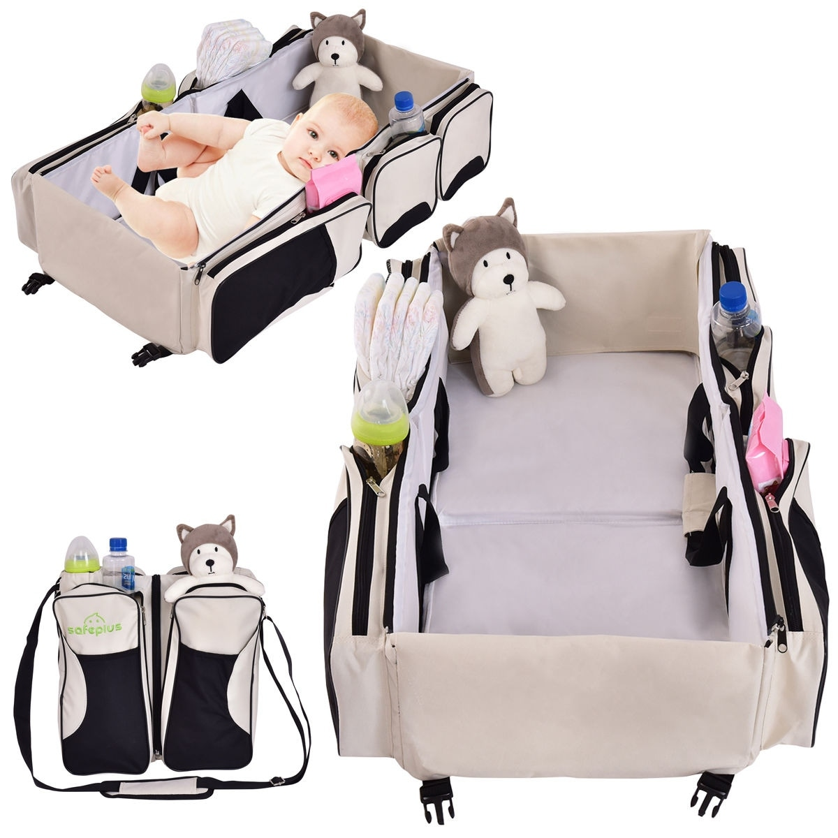 Shop Costway 3 In 1 Portable Infant Baby Bassinet Diaper Bag