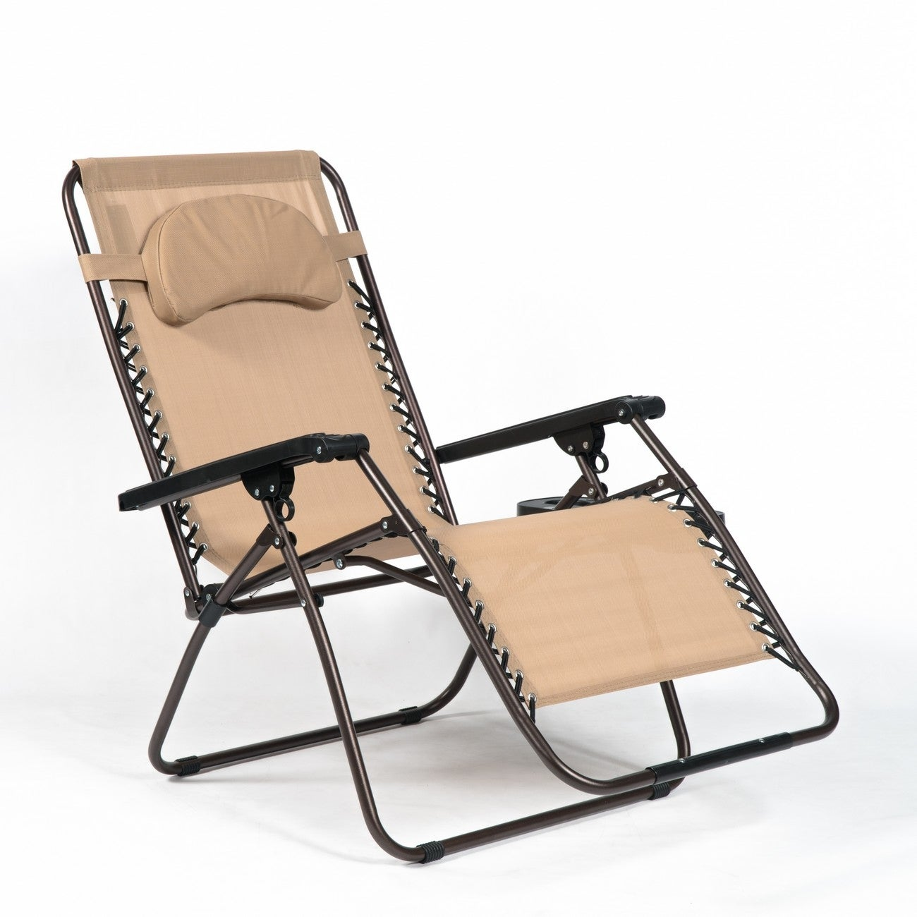 zero gravity extra wide recliner lounge chair. Belleze Extra Large Oversized Zero Gravity Chair Recliner Super Durable Reclining Patio With Cup Holder, Beige - Free Shipping Today Overstock Wide Lounge N