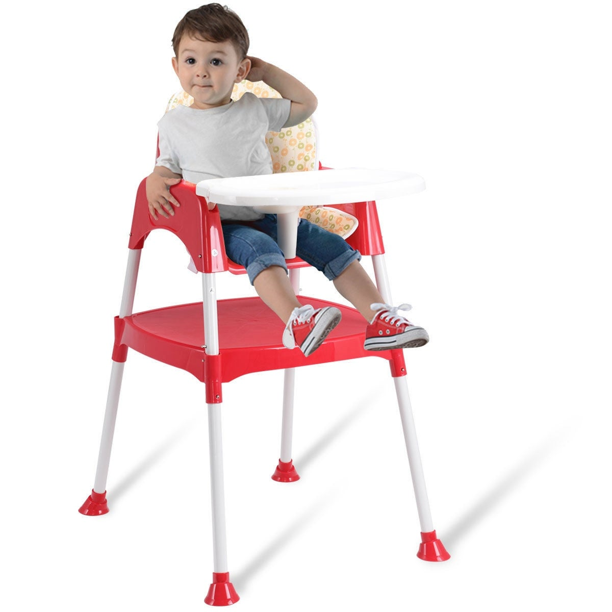 Shop Costway 3 In 1 Baby High Chair Convertible Table Seat Booster