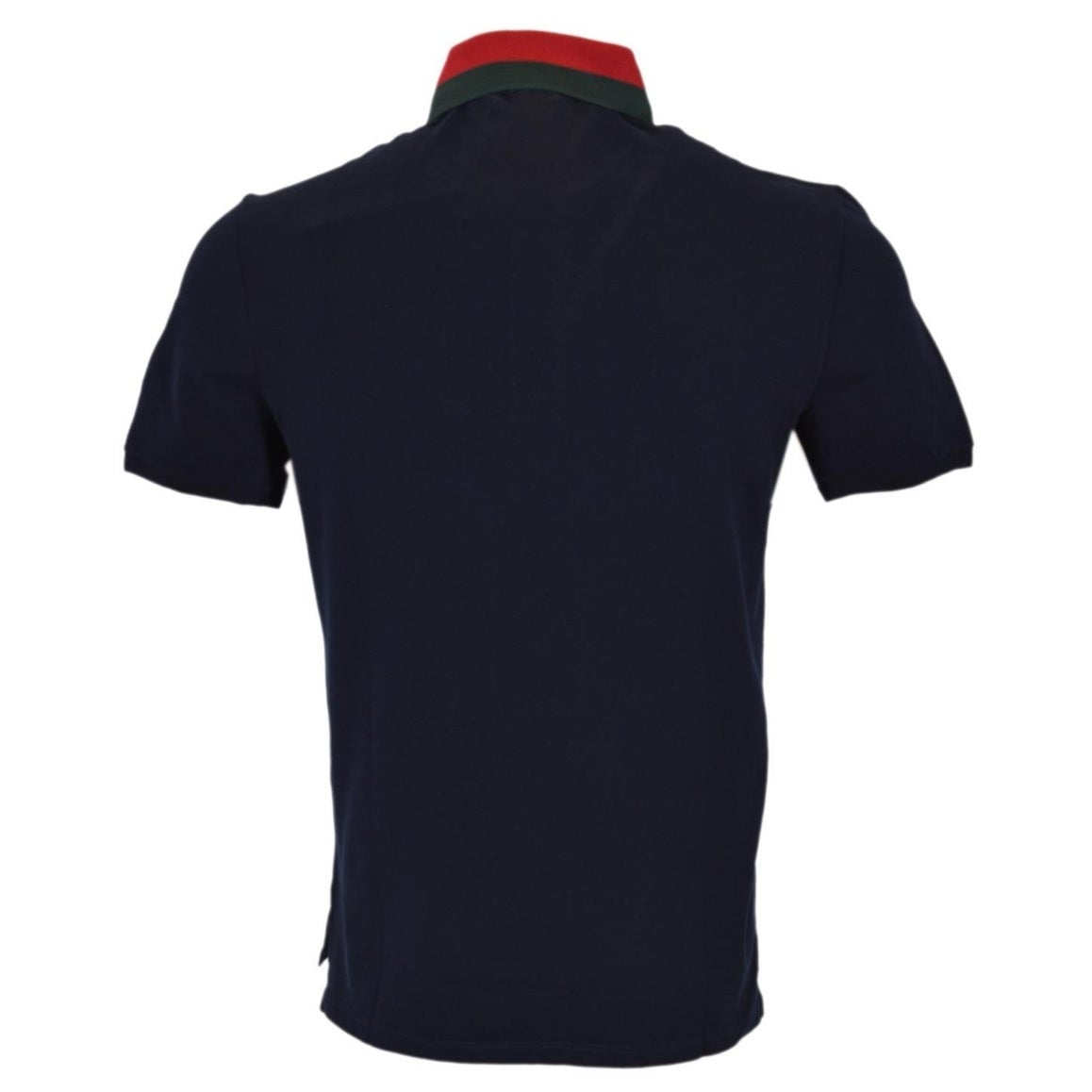 b77d556c Shop Gucci Men's 389031 Blue Cotton Red Green Collar SLIM FIT Polo Shirt L  - Free Shipping Today - Overstock - 19512737
