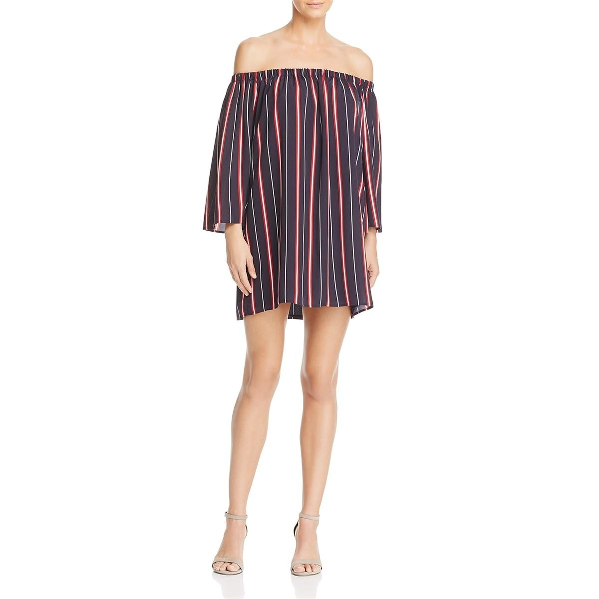 Shop French Connection Womens Hasan T Shirt Dress Off The Shoulder
