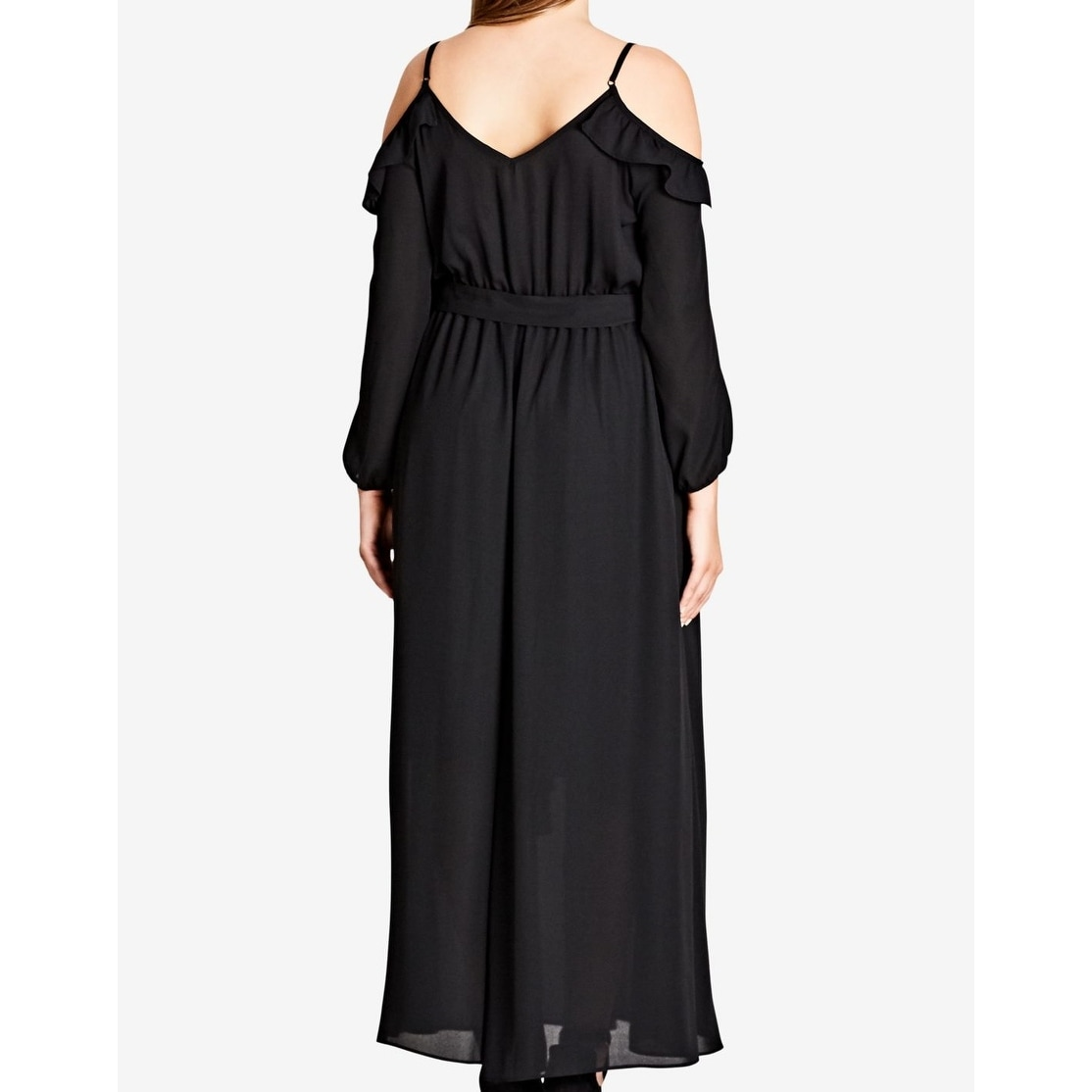 5f51c6b238 Shop City Chic Black Womens Size 24W Plus Cold Shoulder Maxi Dress - Free  Shipping Today - Overstock - 27280516