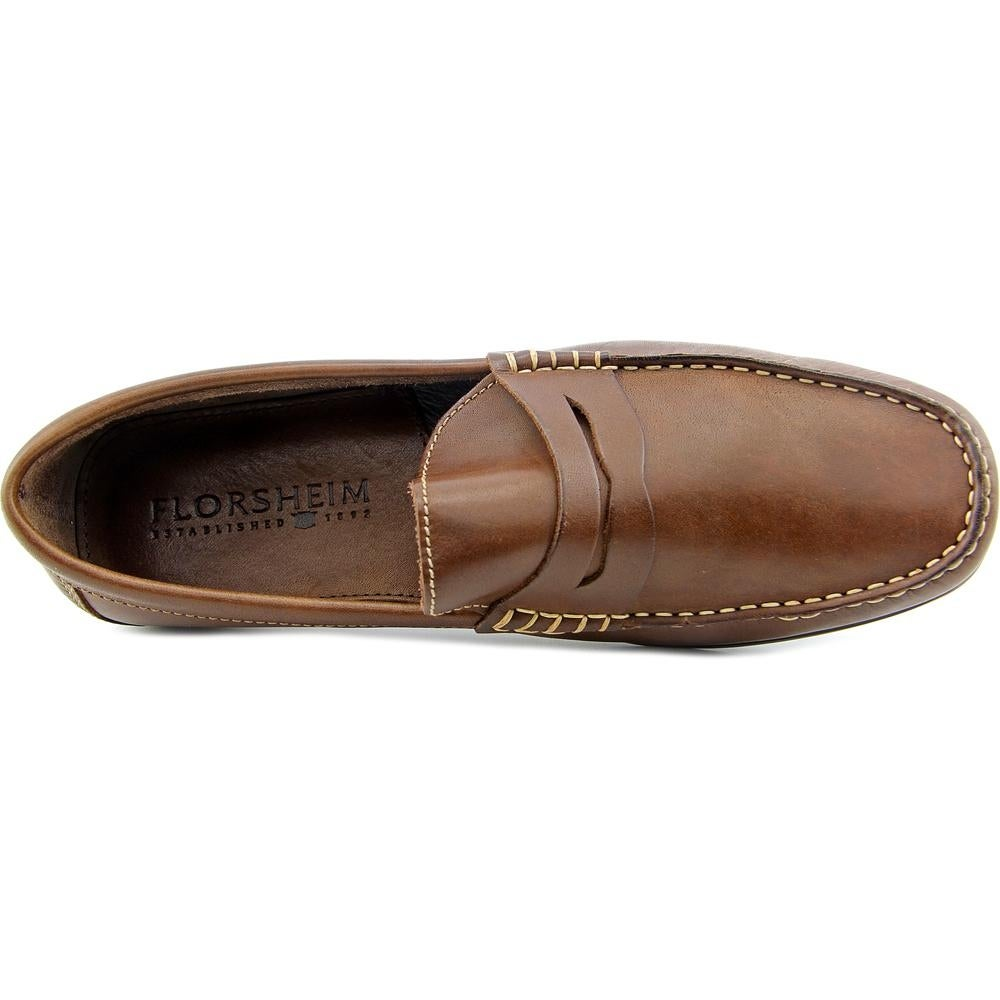 afcfcd458ed Shop Florsheim Jasper Penny Men Moc Toe Leather Brown Loafer - Free  Shipping On Orders Over  45 - Overstock - 13639699
