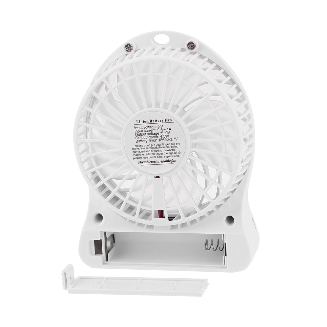 USB Battery Powered Portable Computer Notebook Desk Mini Cooling Fan White