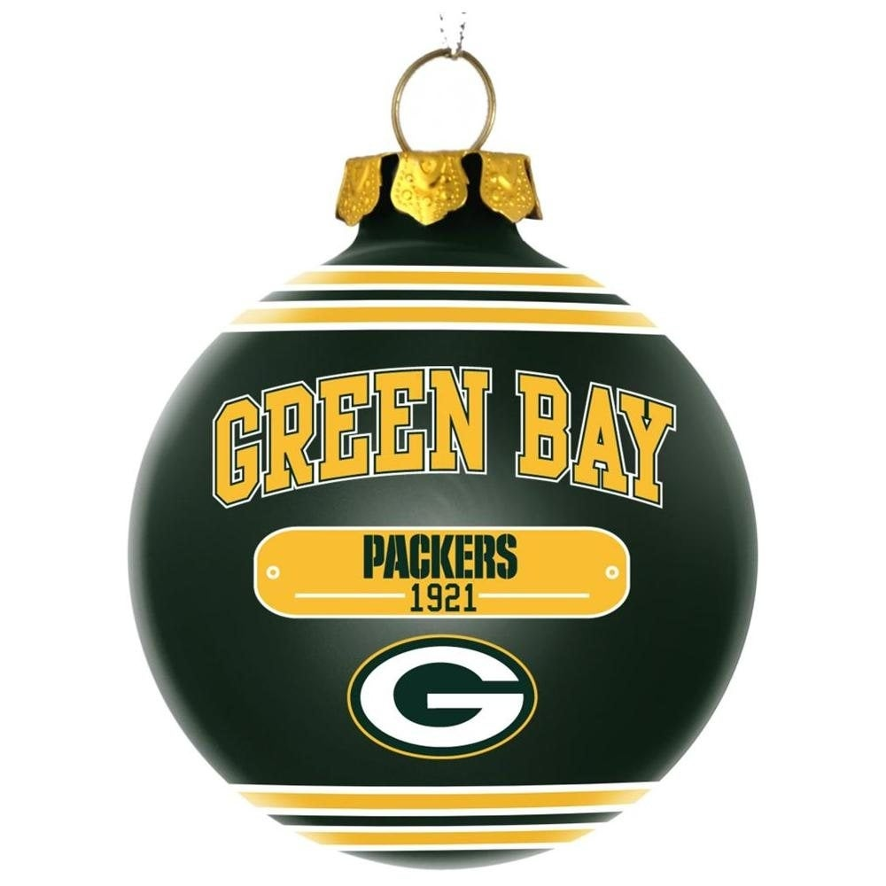 shop green bay packers official plaque ball ornament free shipping on orders over 45 overstockcom 18680716 - Green Bay Packers Christmas Ornaments