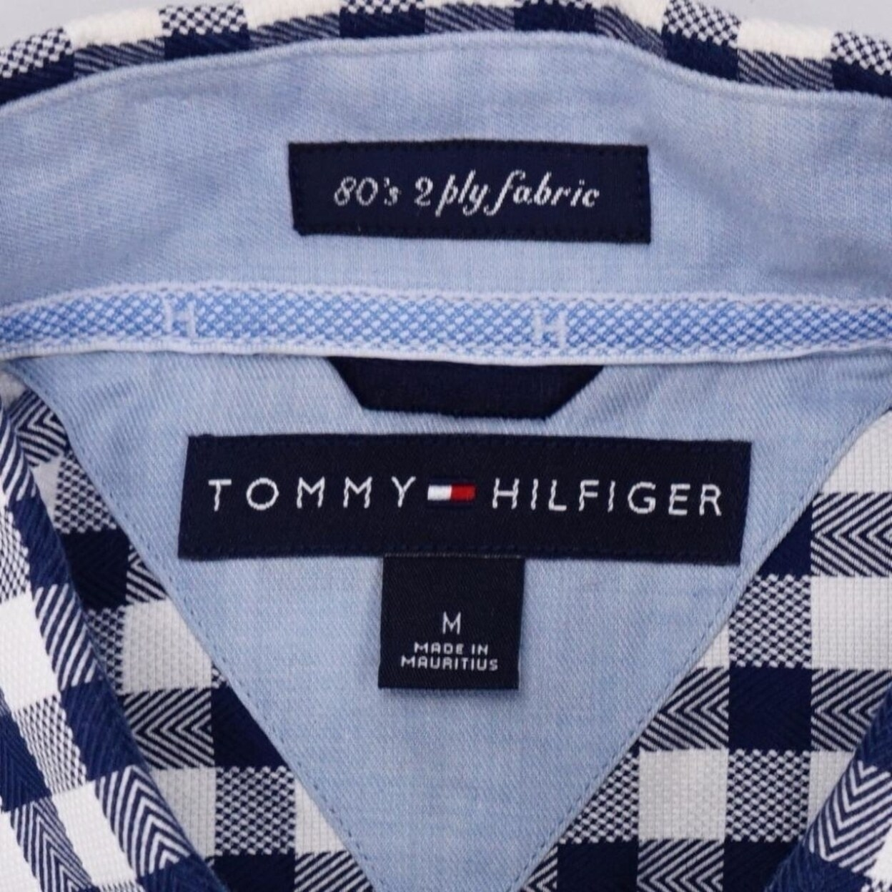 bae85da6 Shop TOMMY HILFIGER 80's 2-Ply Fabric Button Front Shirt Lng Sleeve Mens M  - Free Shipping On Orders Over $45 - Overstock - 23019628