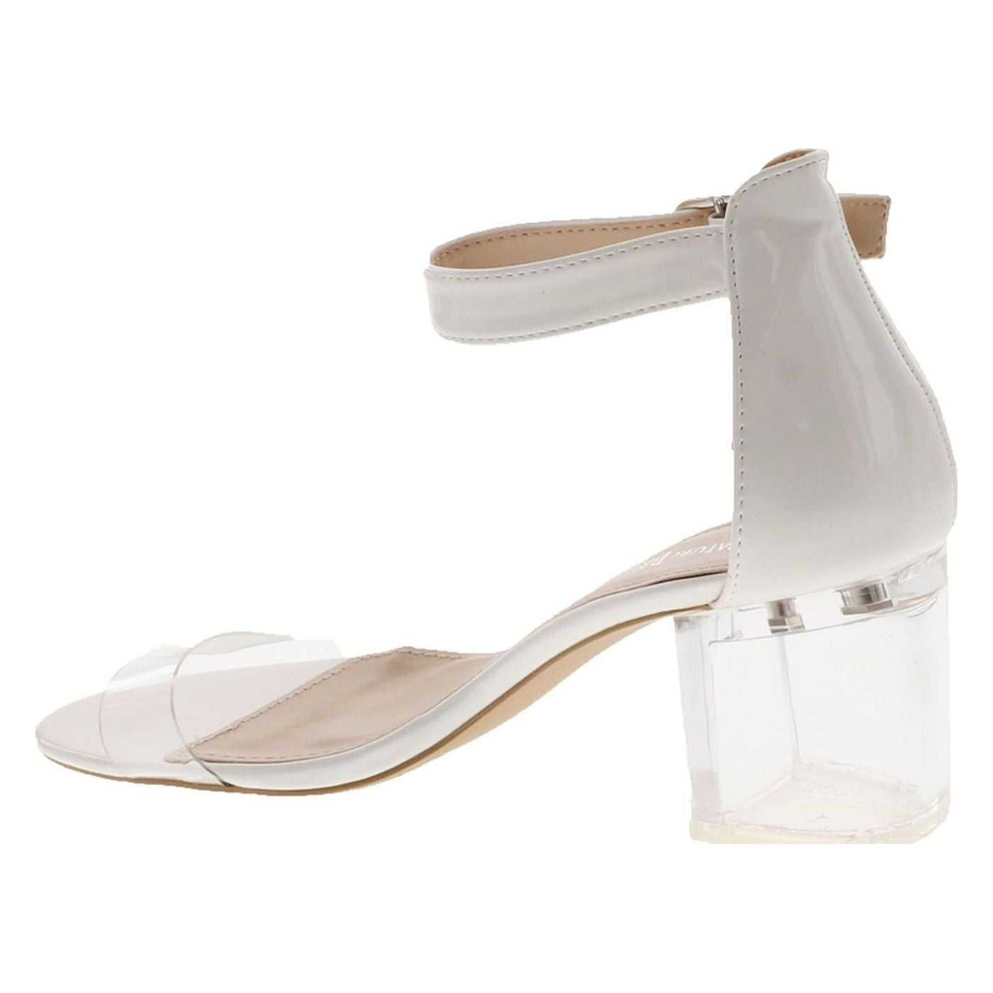 9f93fe0c9 Shop Nature Breeze See Thru-01 Women's Lucite Chunky Heel Ankle Strap Dress  Sandals - Free Shipping On Orders Over $45 - Overstock - 20908570