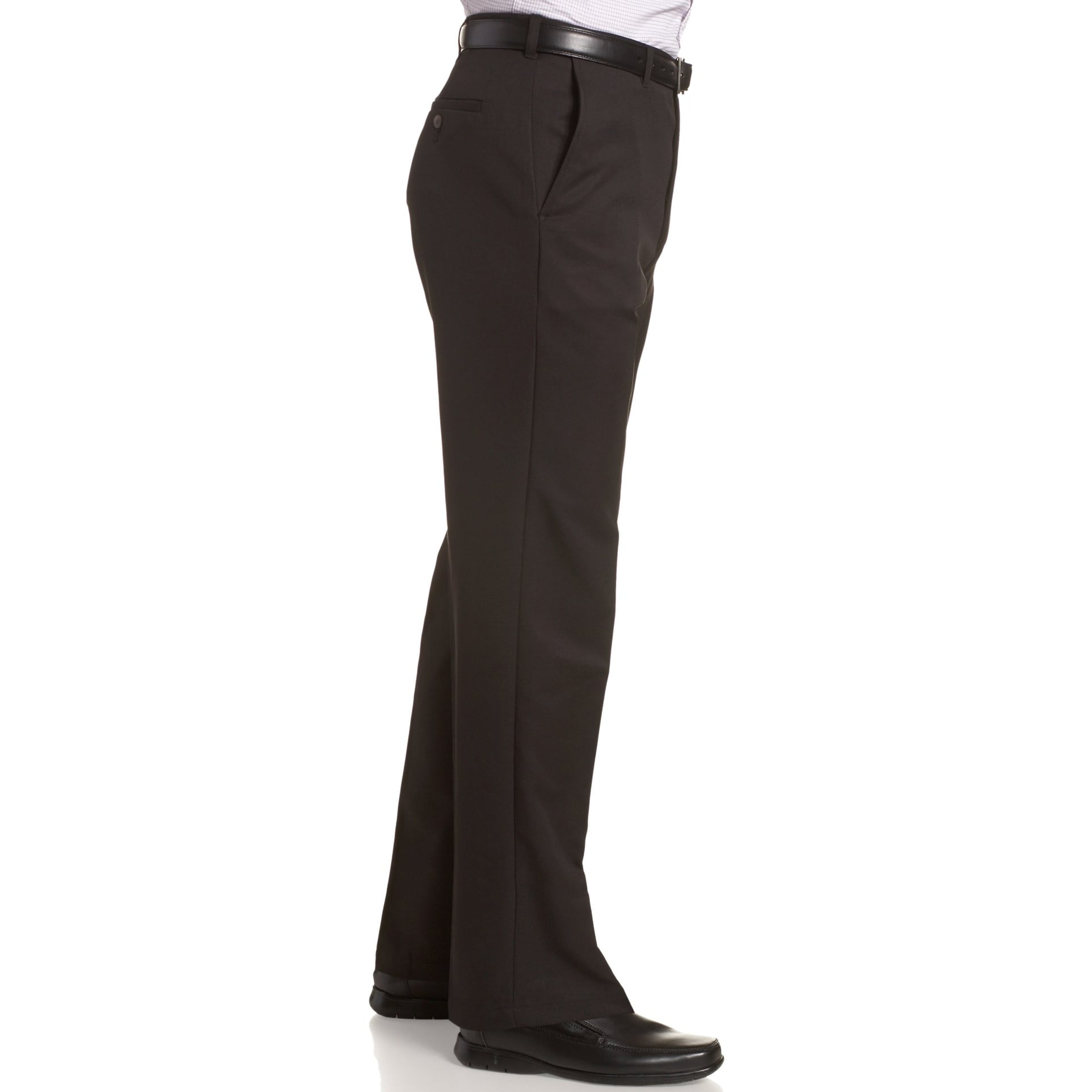 7f9336dd Shop Haggar Black Mens Size 34X30 Flat Front Solid Khaki Chino Pants - Free  Shipping On Orders Over $45 - Overstock - 27989516