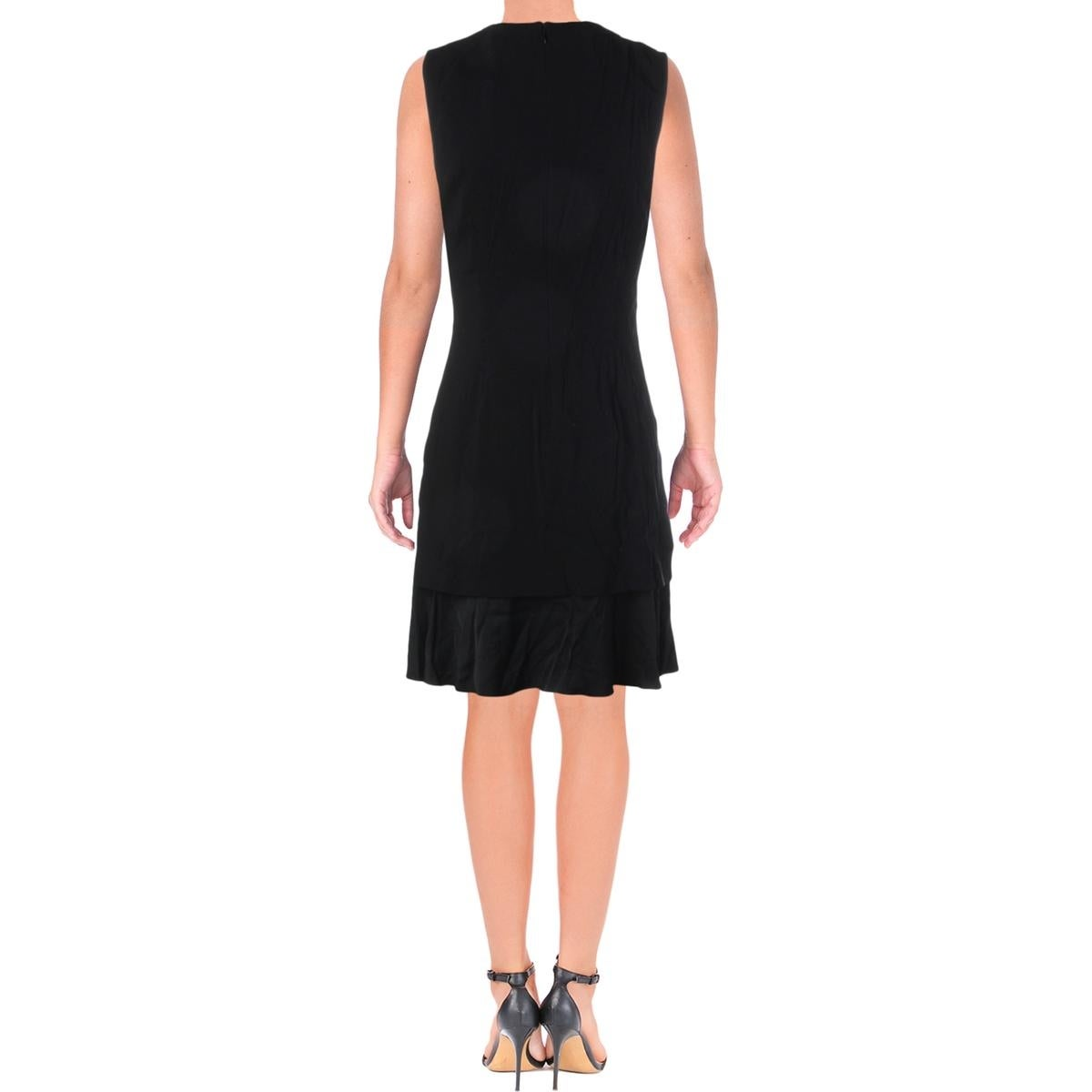 5bbc13365b Shop Theory Womens Malkan Wear to Work Dress Sateen Sleeveless - Free  Shipping Today - Overstock - 20904758