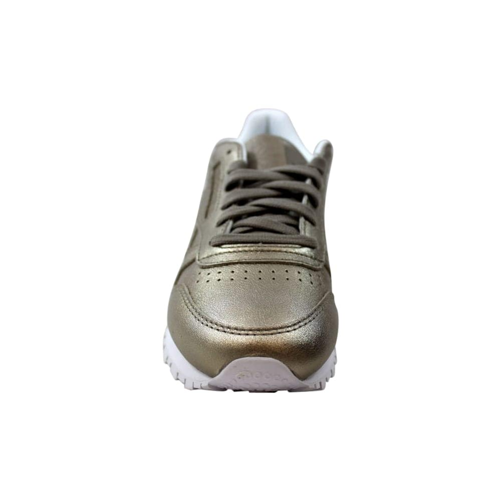 f1186fe5a24 Shop Reebok Classic Leather Melted Metal Pearl Metallic Grey Gold BS7898  Women s - Free Shipping Today - Overstock - 27640714