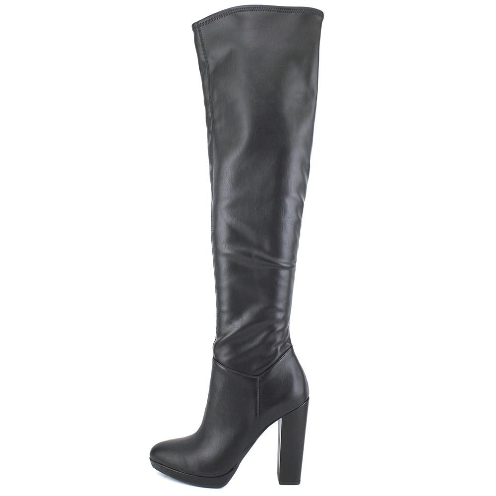 691b597e0a3 Shop Jessica Simpson Grandie Women Round Toe Synthetic Black Over the Knee  Boot - Ships To Canada - Overstock.ca - 18914406