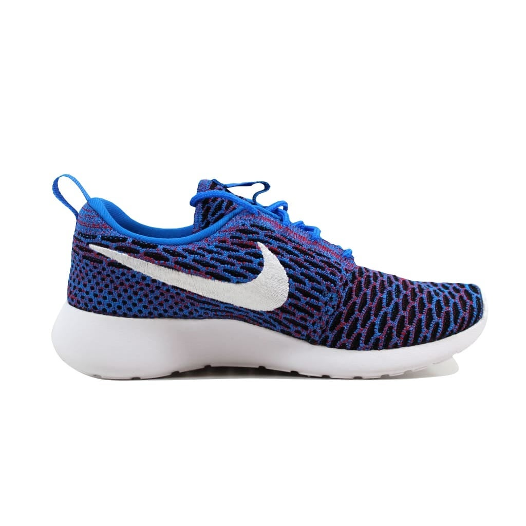 2aabb81b26ce Shop Nike Roshe One Flyknit Photo Blue White-University Red-Black  704927-404 Women s - Free Shipping Today - Overstock - 21893389