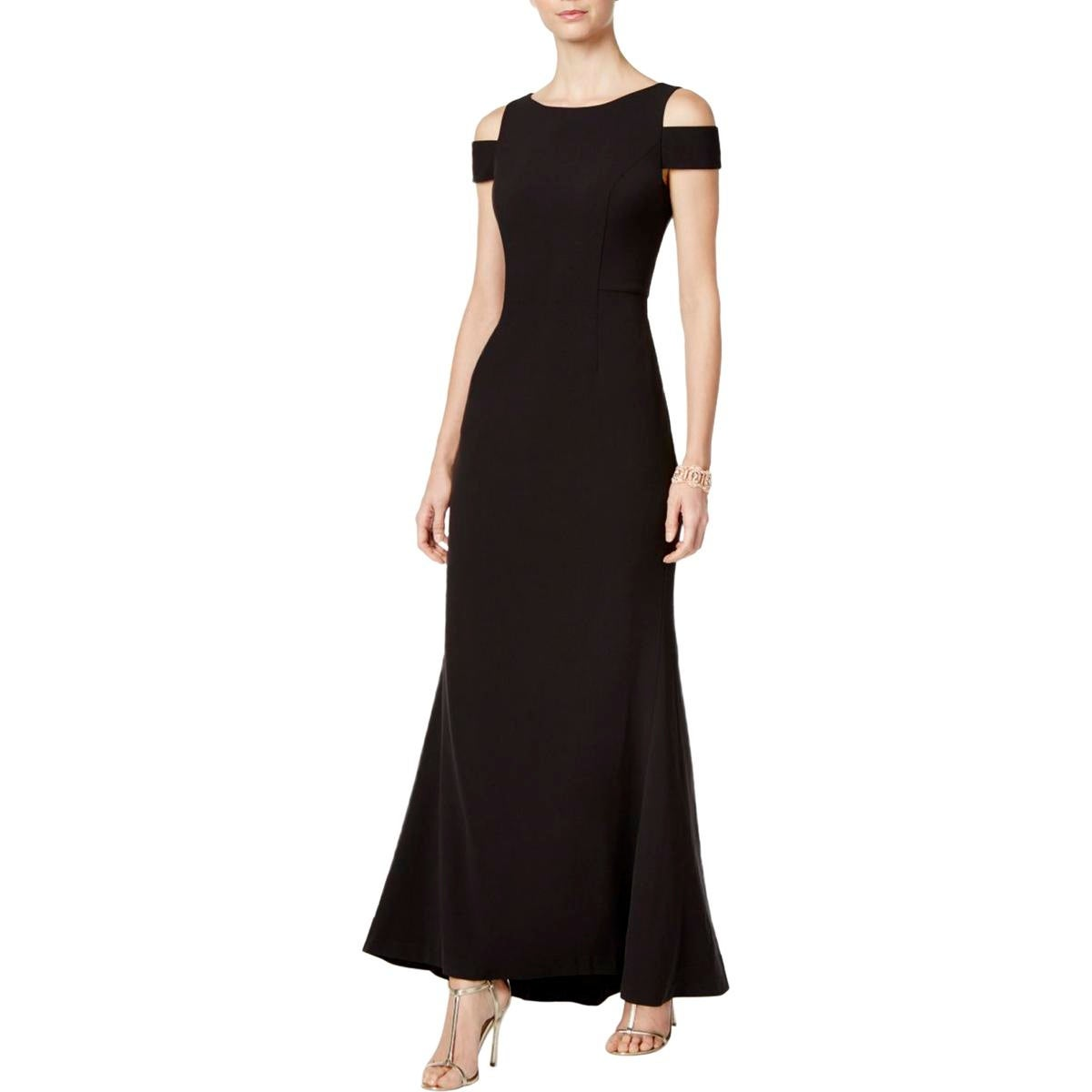Shop Vince Camuto Womens Evening Dress Cold Shouldre Sheath - Free ...