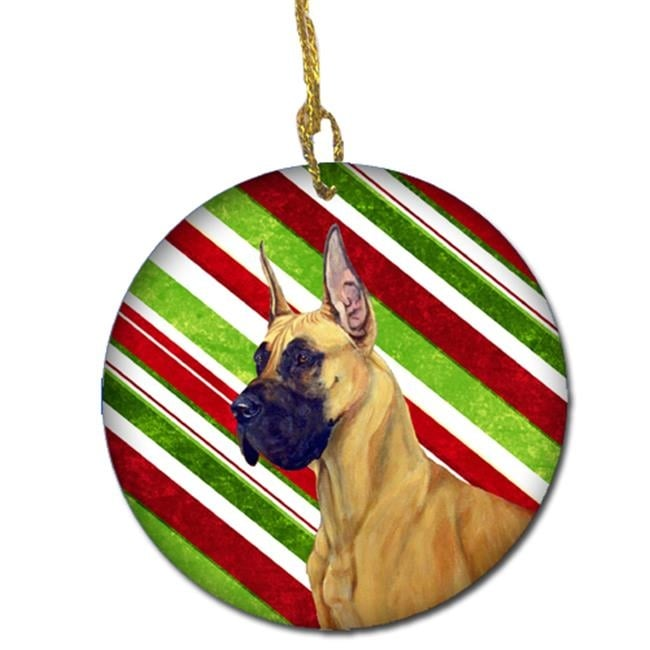 Shop Great Dane Candy Cane Holiday Christmas Ceramic Ornament - Free  Shipping On Orders Over $45 - Overstock.com - 22453130 - Shop Great Dane Candy Cane Holiday Christmas Ceramic Ornament - Free