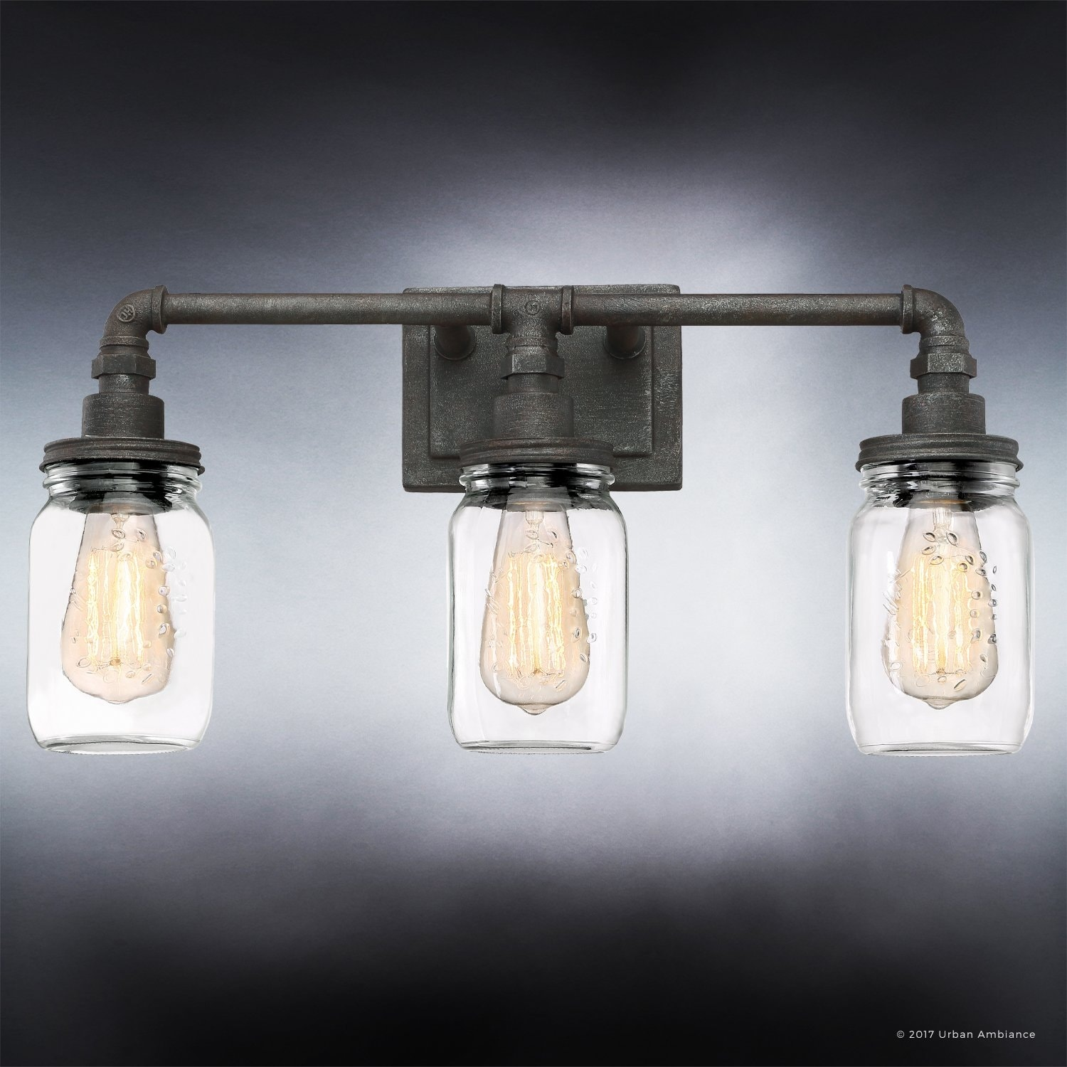 Luxury industrial bathroom light 11h x 215w with shabby chic luxury industrial bathroom light 11h x 215w with shabby chic style aged pipe designantique black finish free shipping today overstock 25476164 mozeypictures