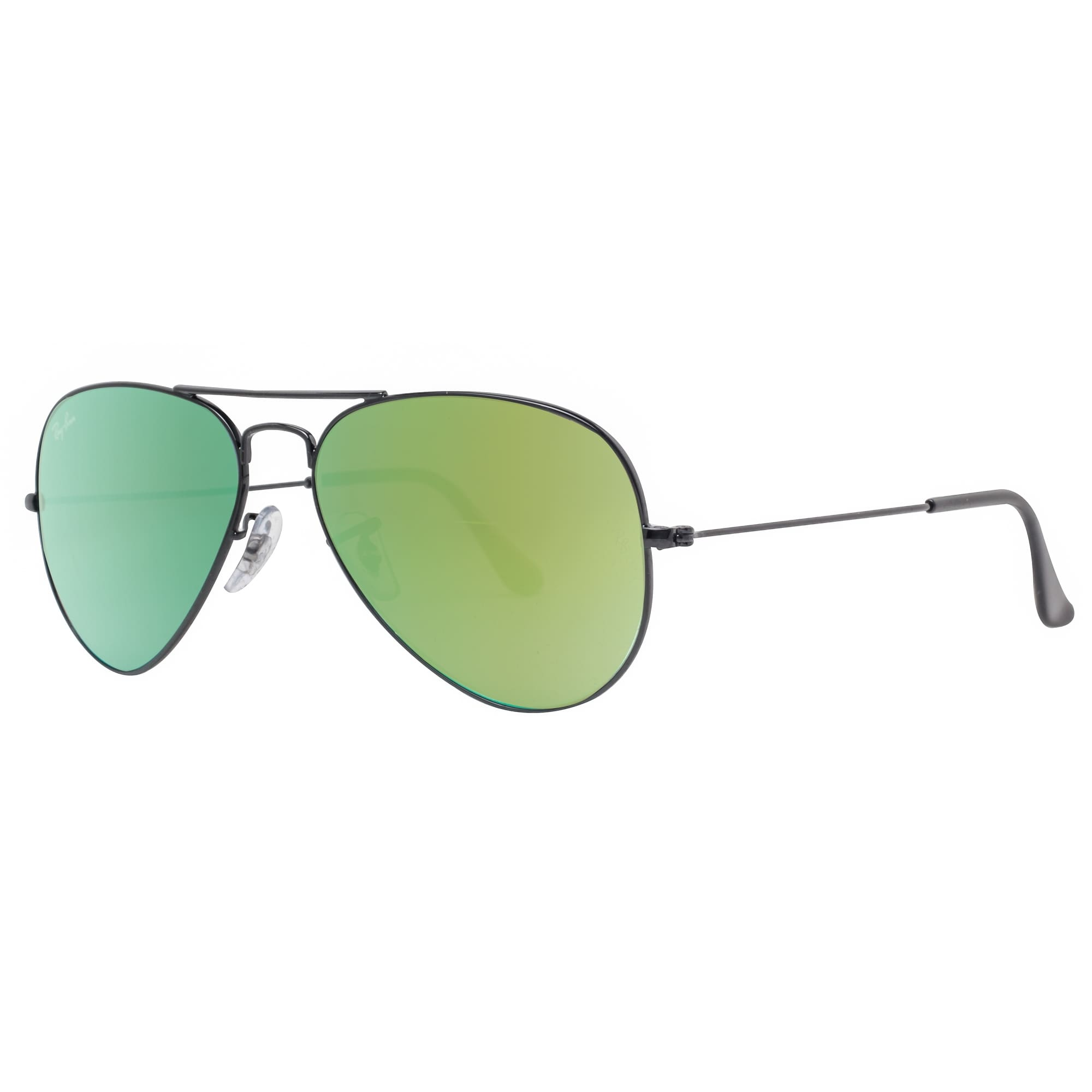 607c32ced6 Shop Ray Ban RB3025 002 4J 55mm Black Green Gradient Flash Aviator  Sunglasses - 55mm-14mm-135mm - Free Shipping Today - Overstock.com -  18794037
