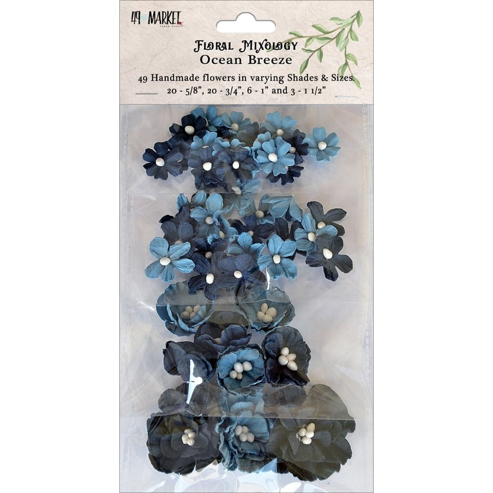 Floral mixology paper flowers assorted sizes 49pkg ocean br ocean floral mixology paper flowers assorted sizes 49pkg ocean br ocean breeze free shipping on orders over 45 overstock 23482090 mightylinksfo