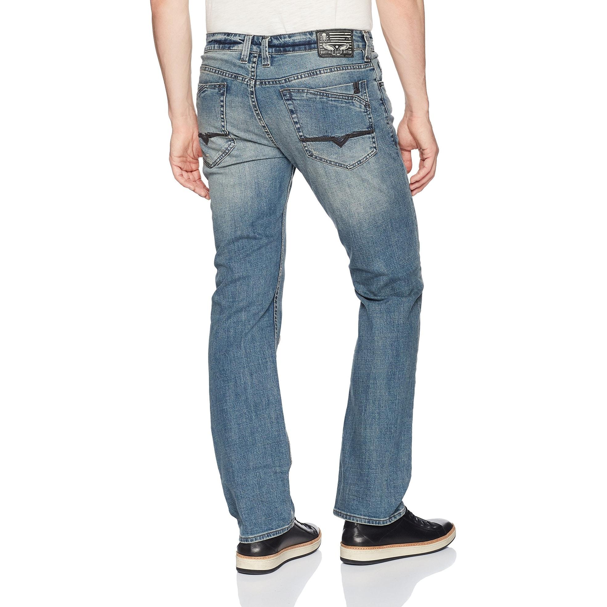 ba4c9f82 Shop Buffalo David Bitton Blue Mens Size 34X32 Patch Straight Leg ...