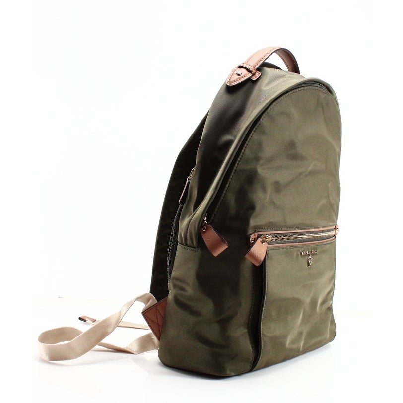 be96cee17c5a ... spain shop michael kors new green olive nylon kelsey large zip top  backpack bag free shipping closeout michael kors abbey medium backpack brown  ...