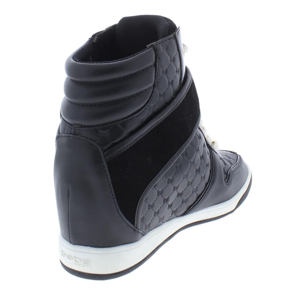 5b5954f23e74 Shop Bebe Sport Womens Colby Fashion Sneakers Faux Leather Wedge - 8.5  Medium (B