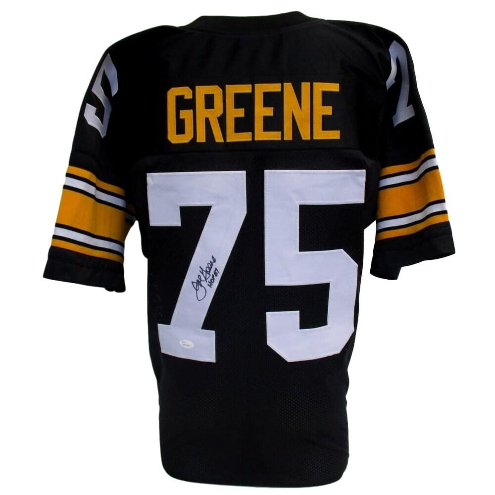 cada5b462 Shop Mean Joe Greene Signed Custom Black Pro-Style Football Jersey HOF 87  JSA - Free Shipping Today - Overstock - 17169064