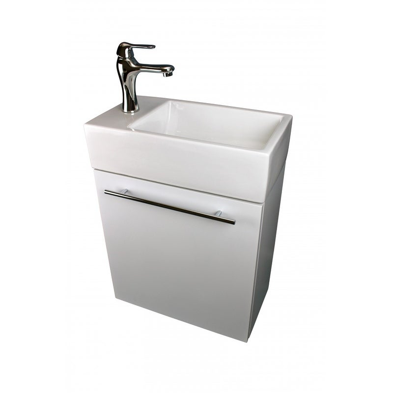 Shop Bathroom Sink White Vanity With Towel Bar Faucet And Drain