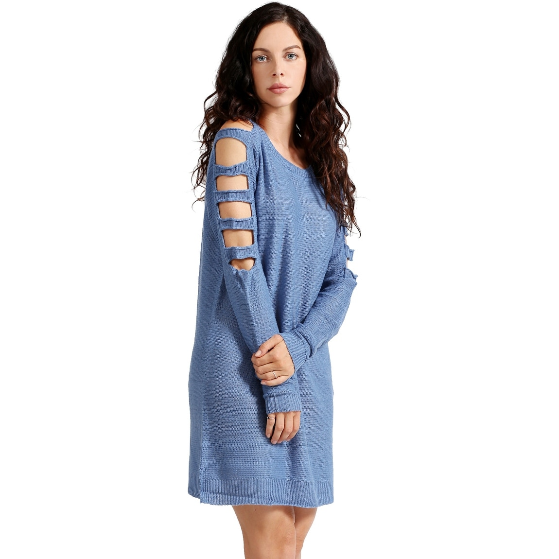 Ne People Women S Ladder Long Sleeve Tunic Sweater Dress Newdr90 Free Shipping On Orders Over 45 17979164