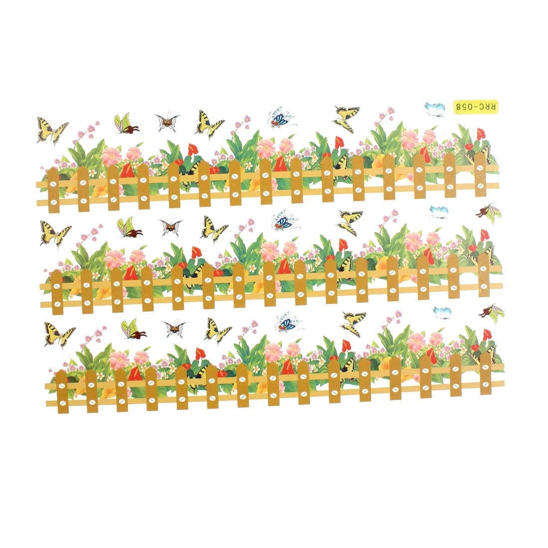 Shop Flower Butterfly Rail Fence Pattern Decor Paper Foam Made Wall ...