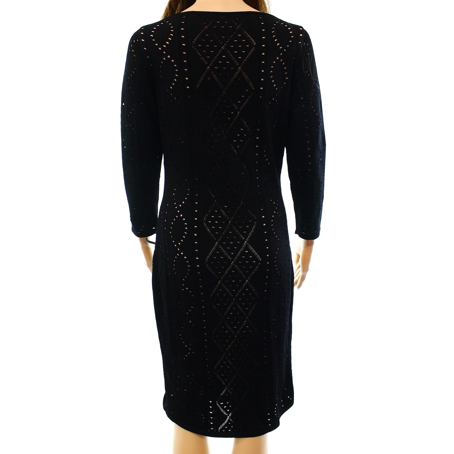 dcd58453 Shop Calvin Klein NEW Black Womens Size XL Laser Cut Stretch Bodycon Dress  - Free Shipping On Orders Over $45 - Overstock - 17799080