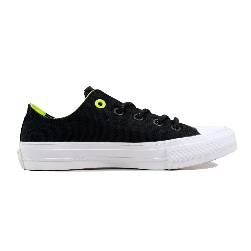 8a1658a88572dd Shop Converse Men s Chuck Taylor II 2 OX Black Volt 153541C - Free Shipping  Today - Overstock - 21893037
