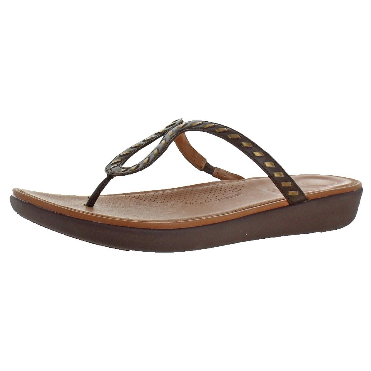 00b449689eda7 Shop Fitflop Womens Strata Toe Thong Thong Sandals Leather Slip-On - On  Sale - Free Shipping Today - Overstock - 26030327