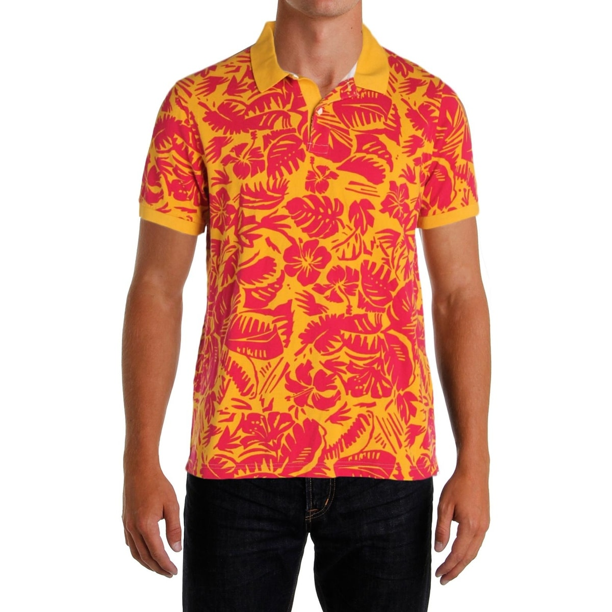 dee2acac Shop Tommy Hilfiger Mens Polo Shirt Polo Hawaiian Print - XL - Free  Shipping On Orders Over $45 - Overstock - 22581646