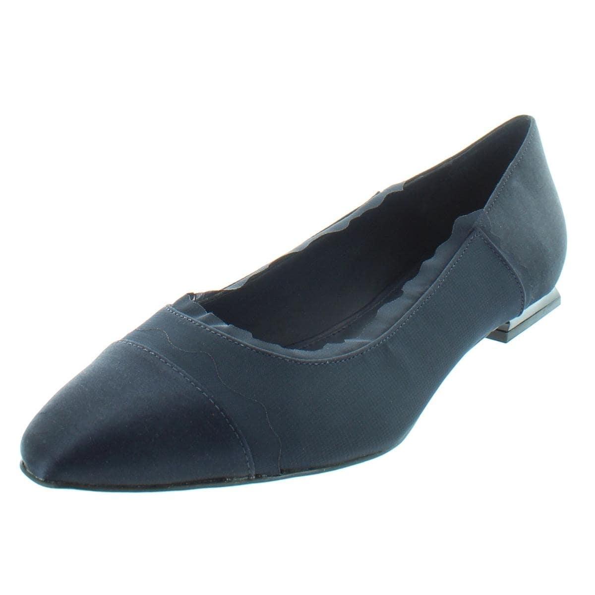 1b2d2ef86546 Shop Calvin Klein Womens Maisha Ballet Flats Satin Scalloped - Free  Shipping Today - Overstock - 21456479