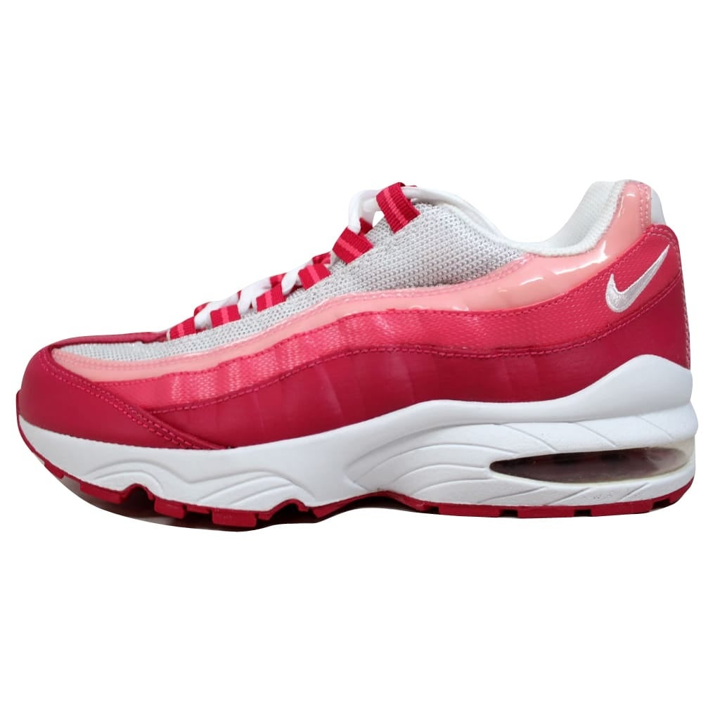 new product a3848 1d11c Shop Nike Grade-School Air Max  95 LE White White-Voltage Cherry-Spark  310830-166 Size 5.5Y - Free Shipping Today - Overstock - 19507659