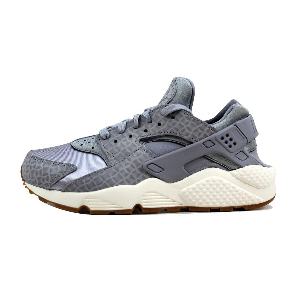 c535a59e02468 Shop Nike Women s Air Huarache Run Premium Wolf Grey Wolf Grey-Sail 683818- 012 - Free Shipping Today - Overstock - 21893245