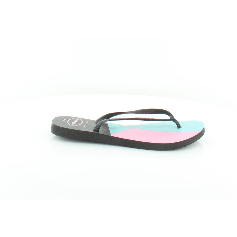 109a8deecfd5e Shop Havaianas Slim Women s Sandals Black Black - 10 - Free Shipping ...