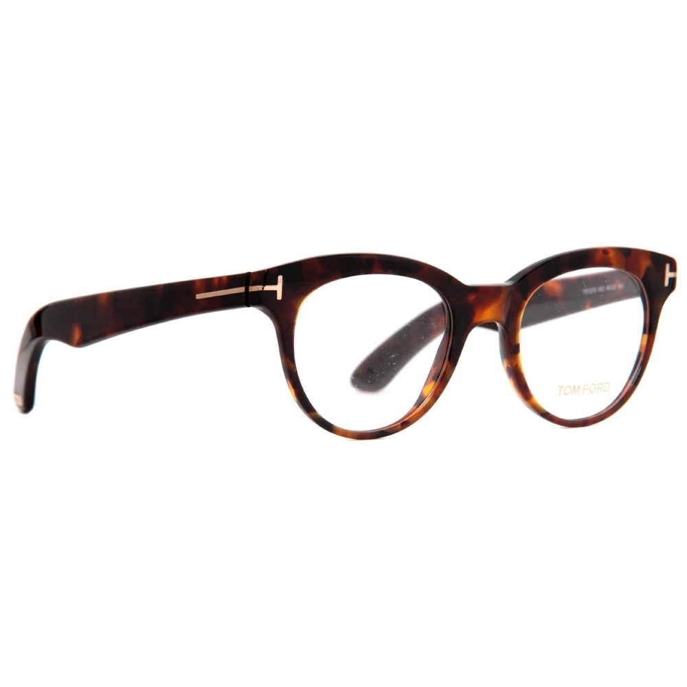 f615e68af086d Shop Tom Ford TF 5378 052 49mm Havana Brown Round Eyeglasses - 49mm-20mm- 145mm - Free Shipping Today - Overstock - 14050964