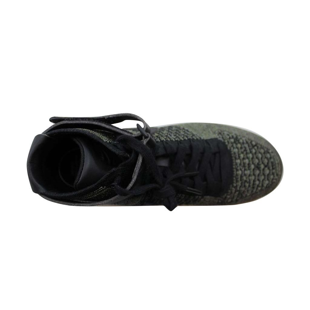 3e07cd71fb5fd Shop Nike Men s Air Force 1 Ultra Flyknit Mid Palm Green Black-White 817420- 301 - Free Shipping Today - Overstock - 22546815