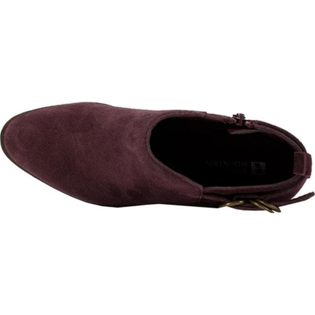 5e67ca598a9c Shop White Mountain Women s Sadie Bootie Burgundy Suede - On Sale - Free  Shipping Today - Overstock - 12336741