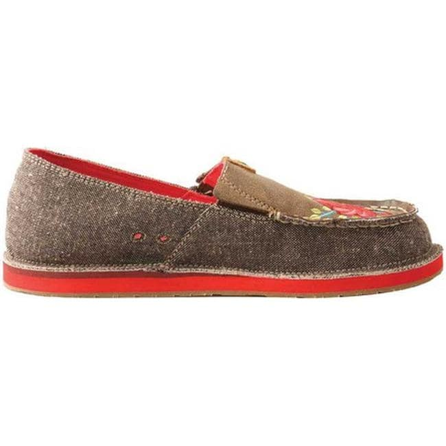 fe205a7b4d5 Shop Twisted X Boots Women s WCL0006 ECO TWX Driving Moc Loafer Dust Red  Flower Canvas Leather - Free Shipping Today - Overstock - 25578213