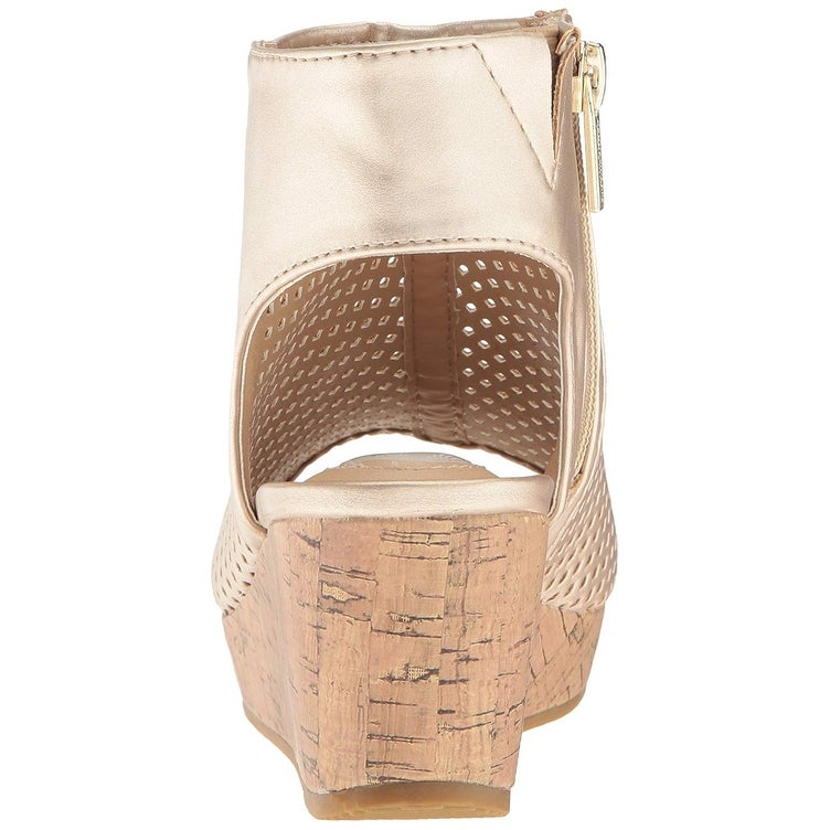 12720f0797 Shop Kids Kenneth Cole Reaction Girls Corrine Finestra Pull On Wedge  Sandals - Free Shipping On Orders Over $45 - Overstock - 23125940