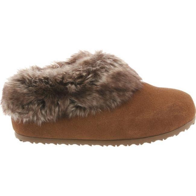 33755e9289ffa Shop Bearpaw Women s Liliana Slipper Hickory II Suede Faux Rabbit Fur -  Free Shipping On Orders Over  45 - Overstock - 17638990