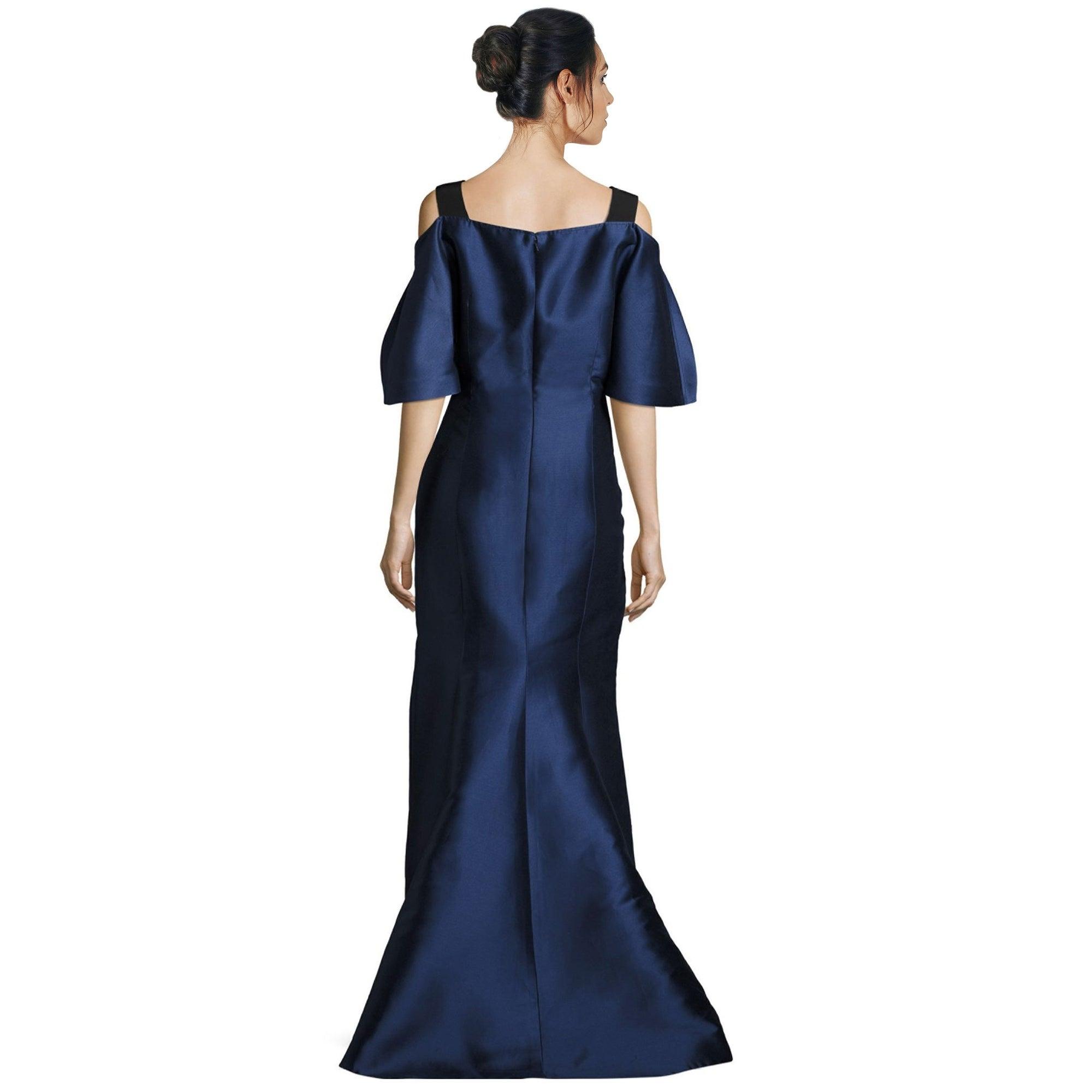 Shop Carolina Herrera Embellished Strap Cold Shoulder Evening Gown ...