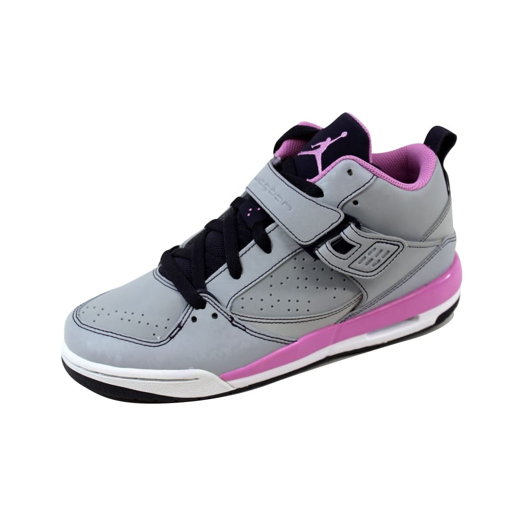 outlet store 1f47f ac7ba Shop Nike Grade-School Air Jordan Flight 45 Wolf Grey Light Magenta-Cave  Purple-White 364798-018 Size 7Y - Free Shipping Today - Overstock - 20617758