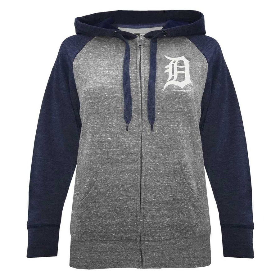 new concept 5a0c1 6ba6f Shop New Era Women MLB Detroit Tigers Glitter Logo Zip Hoodie Sweatshirt  7773L-HHQN - Free Shipping Today - Overstock - 27590105