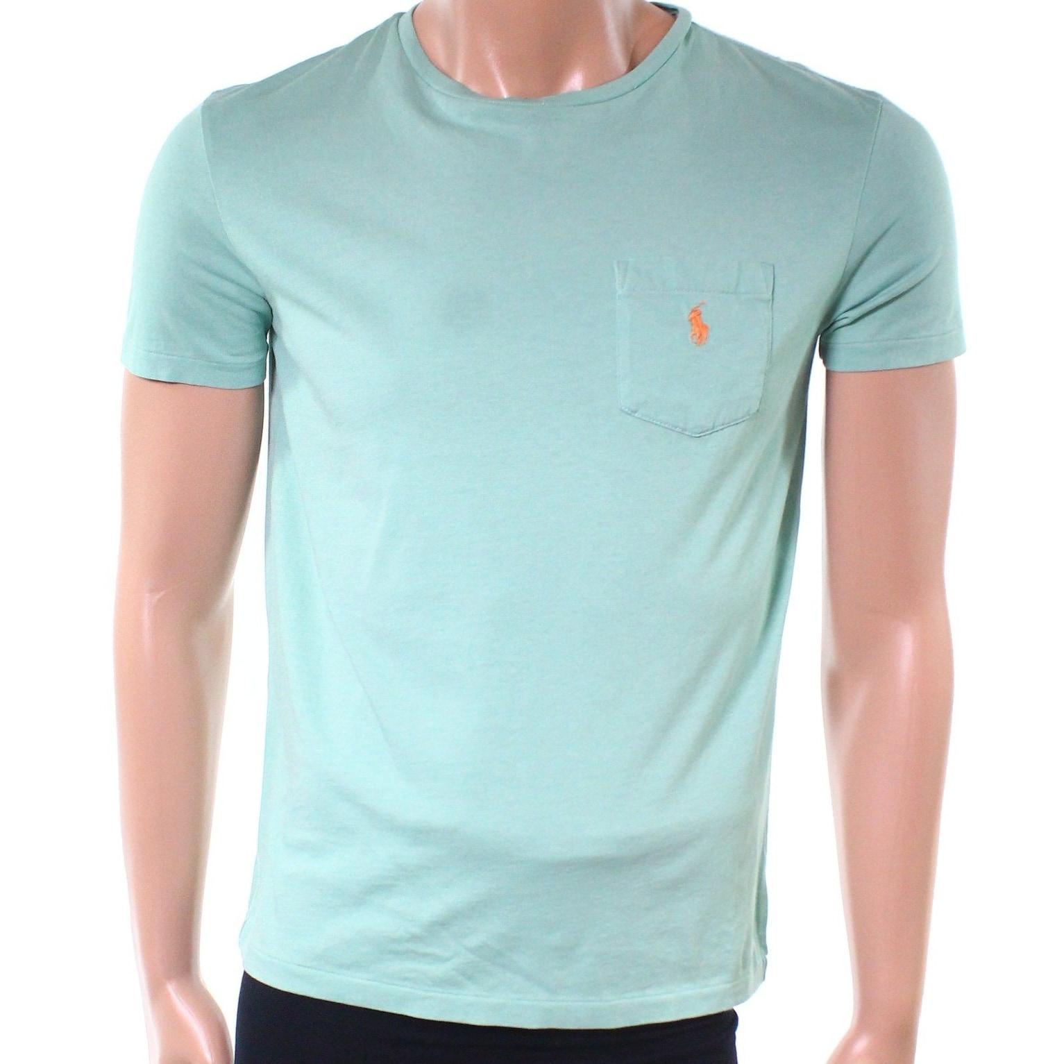 Shop Polo Ralph Lauren New Green Mens Size Medium M Crewneck Tee T