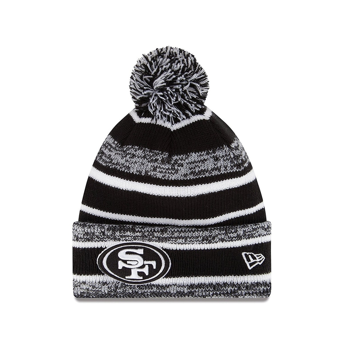 4979633c69c61 Shop New Era NFL Sport Knit Black White Pom Knit - San Francisco 49ers -  Free Shipping On Orders Over  45 - Overstock - 18795697