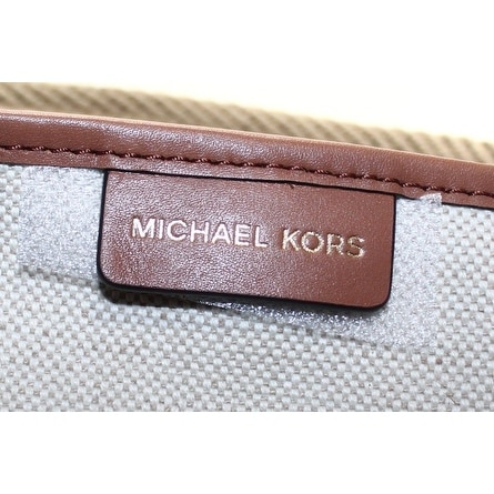 32c27316ee472a Shop Michael Kors NEW Ivory Canvas Maritime Large Beach Tote Bag Purse - Free  Shipping Today - Overstock - 19751820